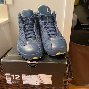 Retro 13 Jordan with original box squadron blue